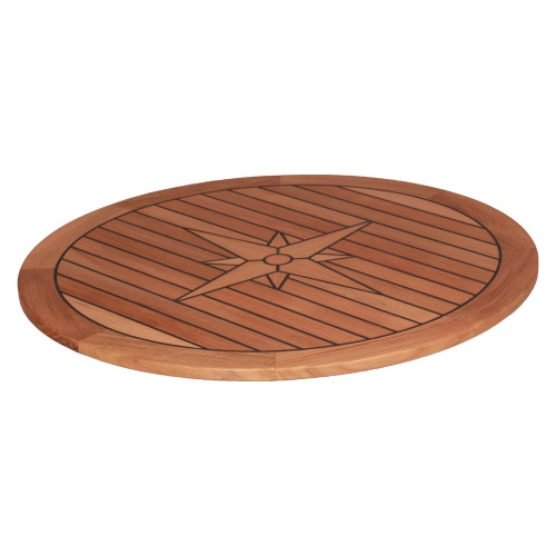 Teak Tafelblad Boot.Teak Tafelblad Circle