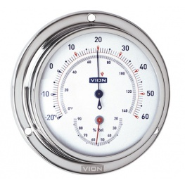 Vion Thermometer / Hygrometer Serie A80 RVS
