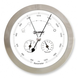 Weerstation Barometer / Thermometer / Hygrometer RVS Talamex