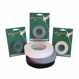 Spreadertape 25mm x 10 meter, wit, zwart en grijs