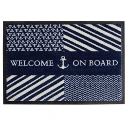 Entree Mat 'Welcome on Board' deurmat 70x50 cm