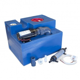 Albin Pump Vuilwatertank Set 47L Vermaler 12-24 volt