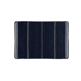 Badmat anti-slip 'santorini waves' navy 60x45cm