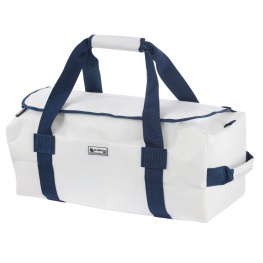 Bainbridge Zeildoek tas DeLuxe, wit-blauw in small, medium en large