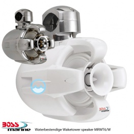 Boss Marine Waketower speaker 500 Watt verkrijgbaar in wit of chroom