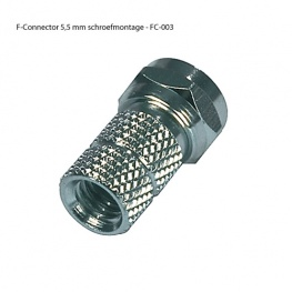 F-Connector Schroefmontage 5,5 mm