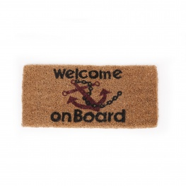 Kokosmat Welcome on Board 25 x 50 cm