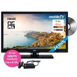 Nikkei Mobile TV NLD24MBK 12 Volt 24 Inch FULL HD LED TV met DVB-S en FastScan
