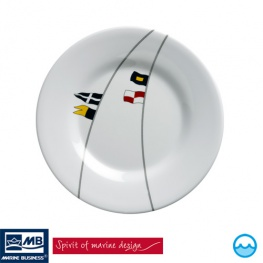 Scheepsservies Regata Dessertbord dia: 20 cm mte anti slip ring