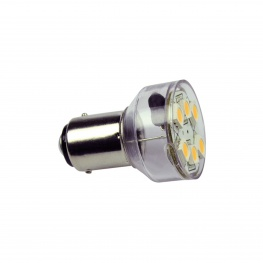 LED 12V BA15d 6xSMD ledlamp