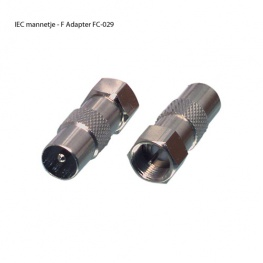 Coax Verloopplug IEC Male - F Connector