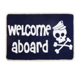 Entree mat Welcome Aboard Pirate Skull Kids deurmat voor de boot