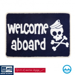 Entree mat Welcome Aboard Pirate Skull Kids