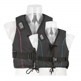 Zwemvest Besto Dinghy Zipper All Black Pink/Zwart of Aqua/Zwart