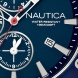 Nautica Watersport horloge BFD 101 Dive Style Chrono close up