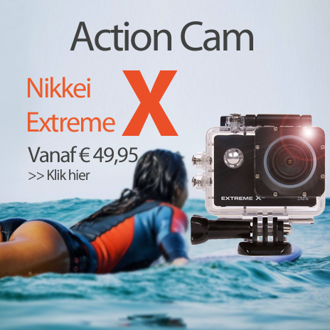 Nikkei extreme action cam aanbieding